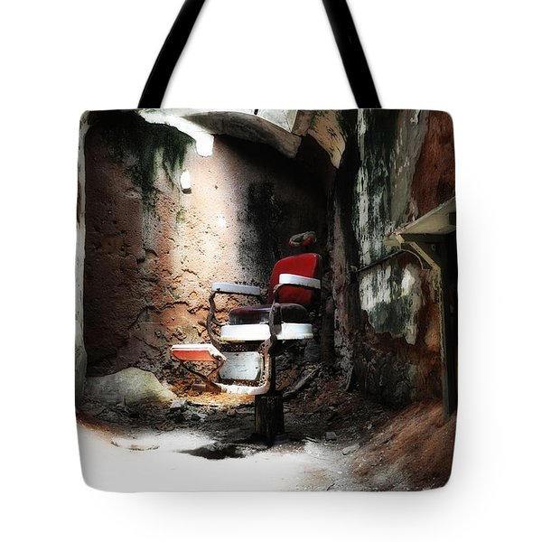 Eastern State Penitentiary - Barber's Chair Tote Bag by Bill Cannon