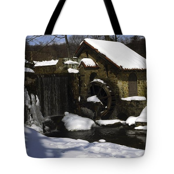 Eastern University Waterwheel Historic Place Tote Bag by Sally Weigand