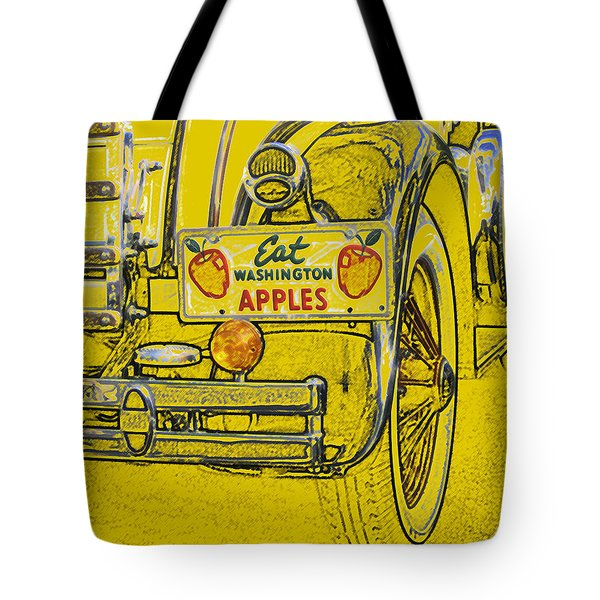 Eat Washington Apples Tote Bag by Anne Mott