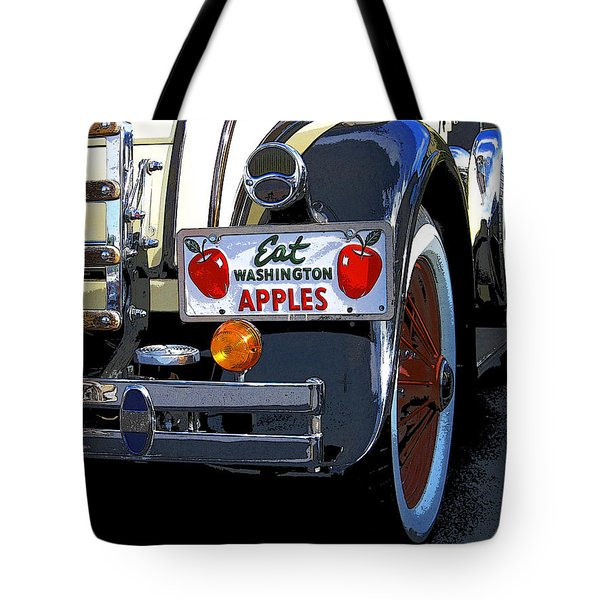 Eat Washington Apples2 Tote Bag by Anne Mott
