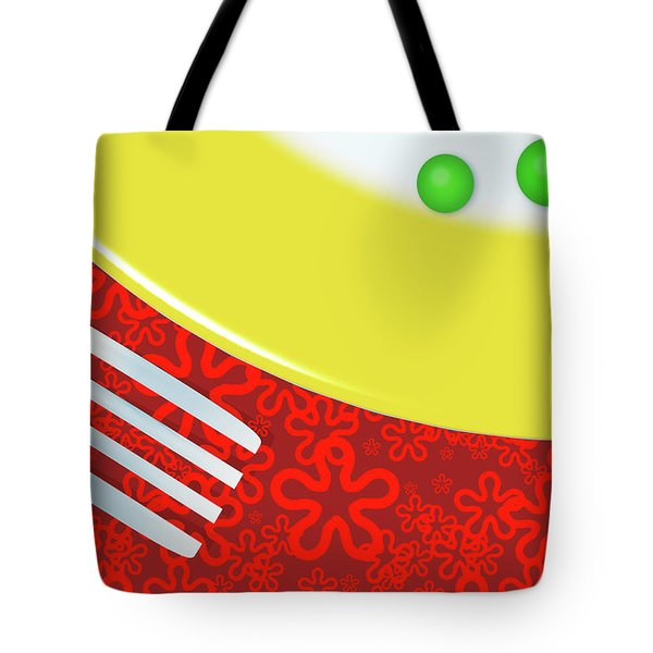 Eat Your Peas Tote Bag by Richard Rizzo
