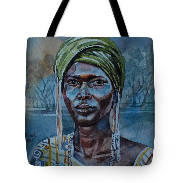 Ebony Girl Tote Bag by Mohamed Fadul
