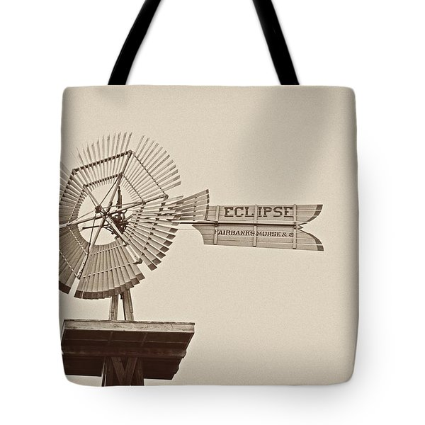 Eclipse Windmill 3578 Tote Bag by Michael Peychich