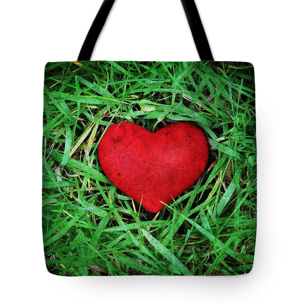 Tote Bag featuring the photograph Eco Heart by Laura Melis