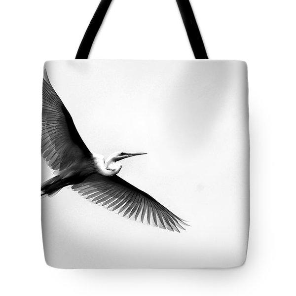 Egret Elegance Tote Bag