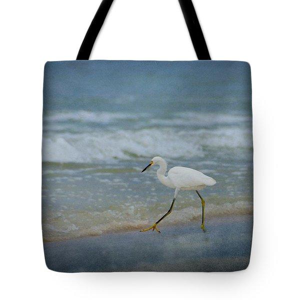 Egret Tote Bag by Sandy Keeton