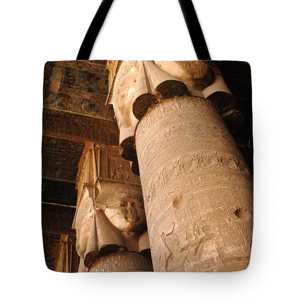Egypt Temple Of Dendara Tote Bag by Bob Christopher