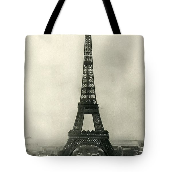 Eiffel Tower 1890 Tote Bag by Bill Cannon