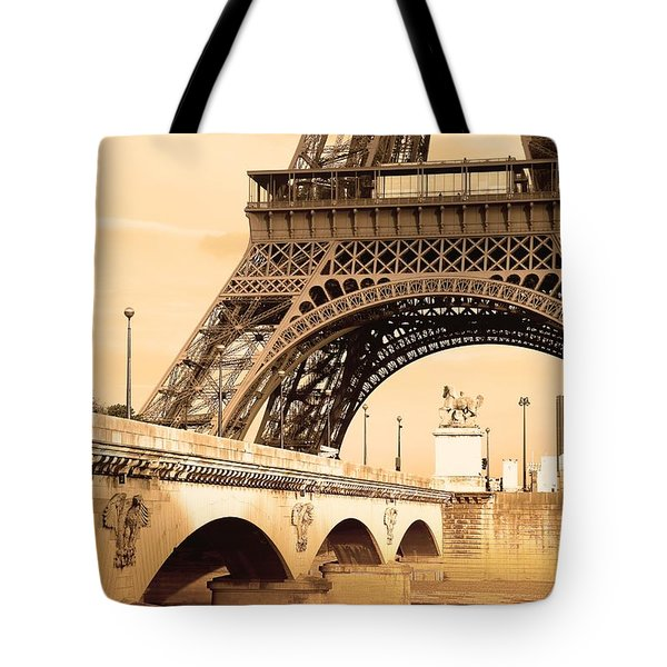 Eiffel Tower, Paris, France Tote Bag by Carson Ganci