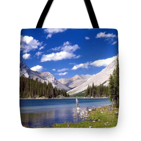Tote Bag featuring the photograph Elbow Lake by Jim Sauchyn