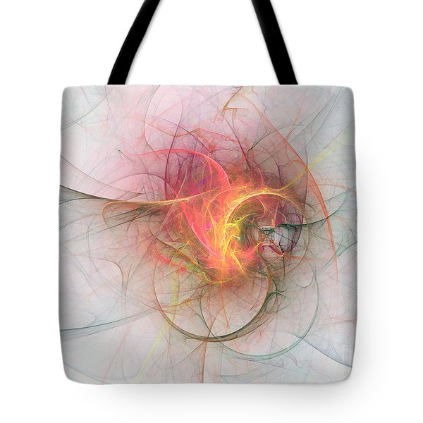 Electric Blossom Tote Bag