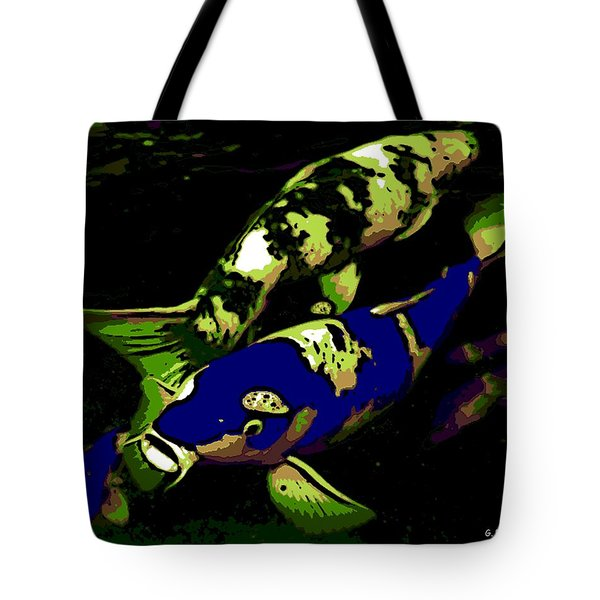 Electric Blue Tote Bag by George Pedro