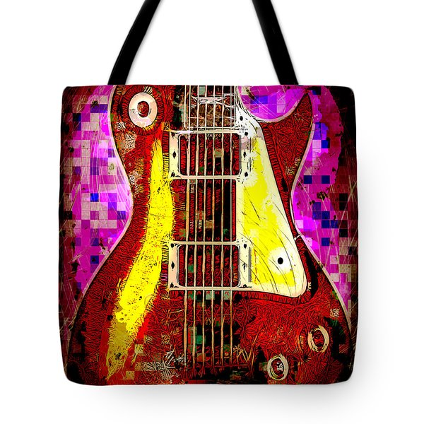 Electric Guitar Abstract Tote Bag by David G Paul