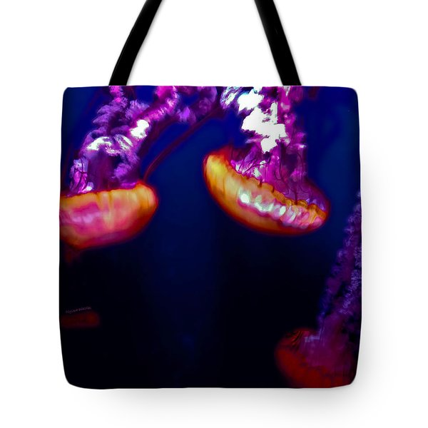 Electric Light Disco Tote Bag by DigiArt Diaries by Vicky B Fuller