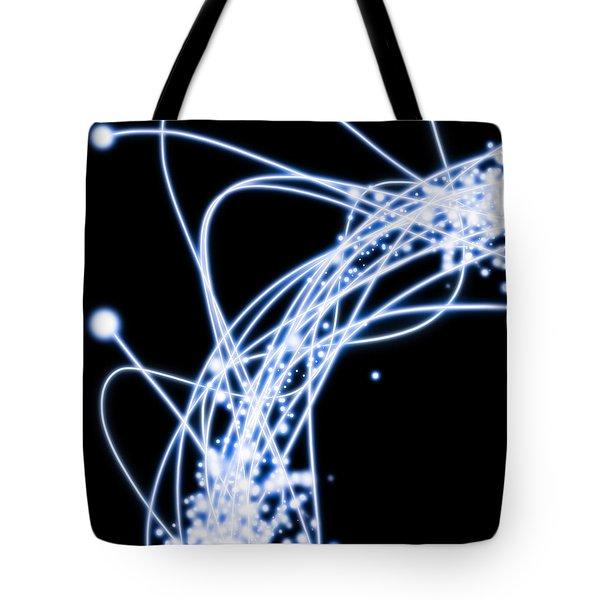 Electric Lines Tote Bag by Setsiri Silapasuwanchai
