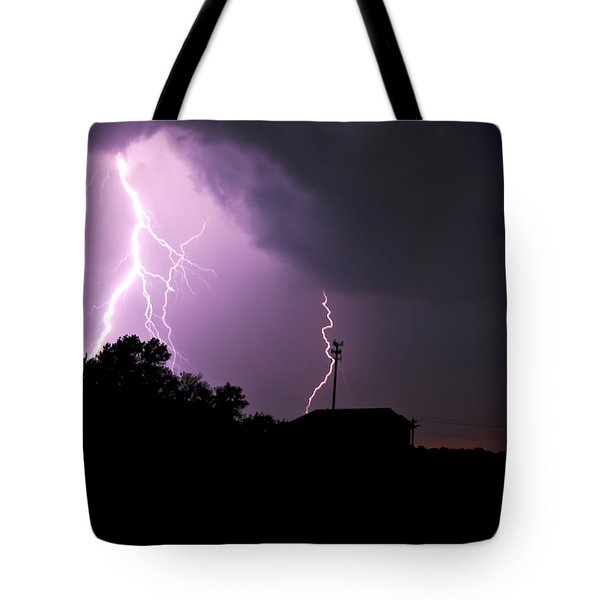 Electrifying Sky  Tote Bag