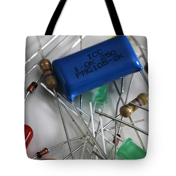Electronic Components Tote Bag by Photo Researchers, Inc.
