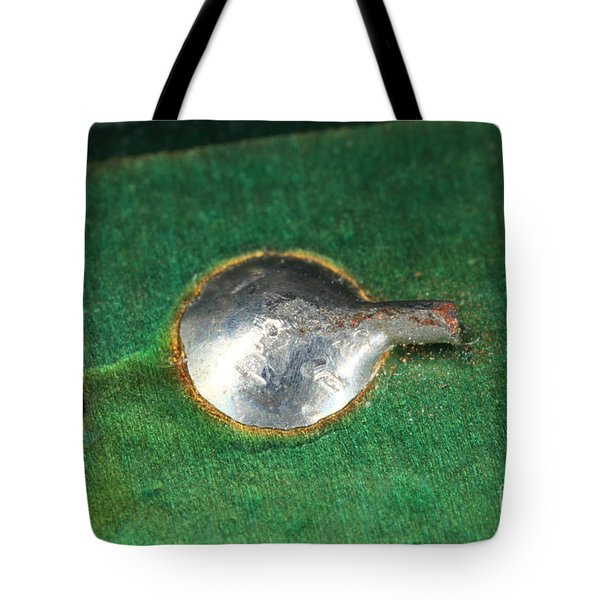 Electronics Board Solder Joint Tote Bag by Ted Kinsman