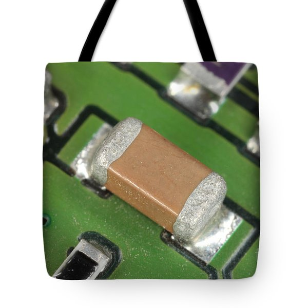 Electronics Board With Lead Solder Tote Bag by Ted Kinsman