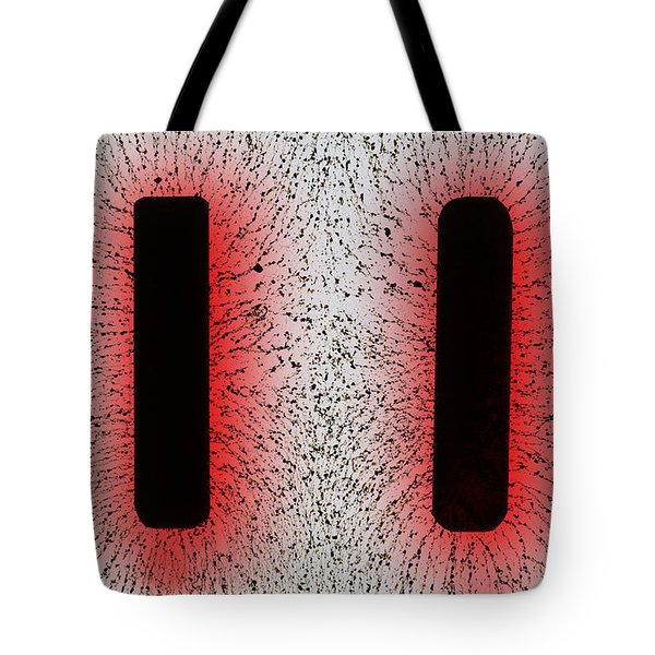 Electrostatic Field Lines Like Charges Tote Bag by Ted Kinsman