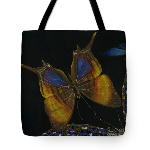 Elena Yakubovich - Butterfly 2x2 Top Left Corner Tote Bag