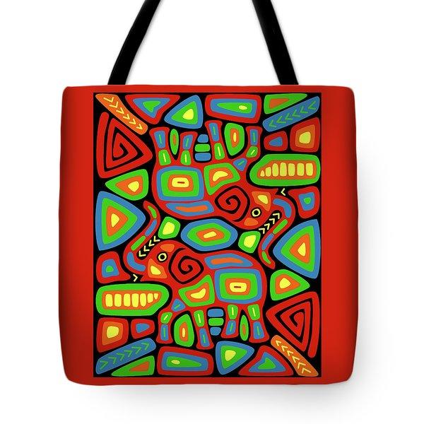 Elephant Mola Tote Bag
