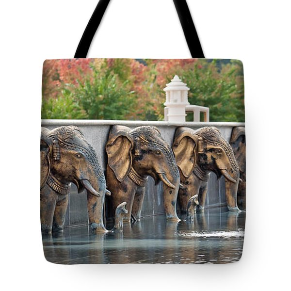 Elephants Of The Mandir Tote Bag