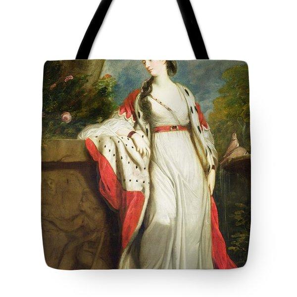 Elizabeth Gunning - Duchess Of Hamilton And Duchess Of Argyll Tote Bag by Sir Joshua Reynolds
