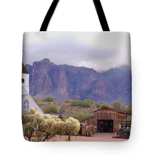 Tote Bag featuring the photograph Elvis Memorial Chapel by Tam Ryan