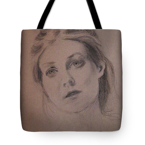Tote Bag featuring the painting Em by Carol Berning