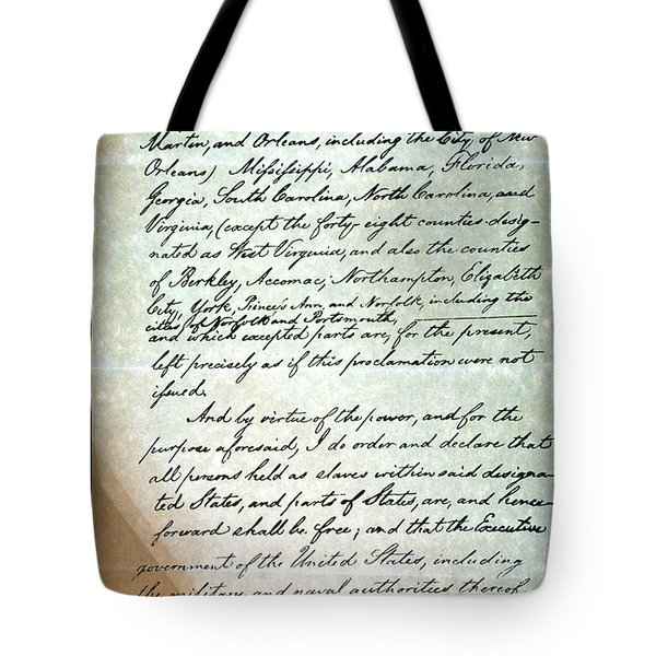 Emancipation Proc., P. 3 Tote Bag by Granger