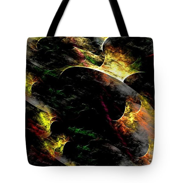 Tote Bag featuring the digital art Embers by Greg Moores