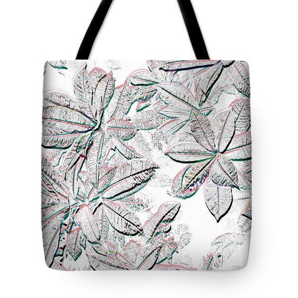 Embossed Crotons Tote Bag by Tom Wurl