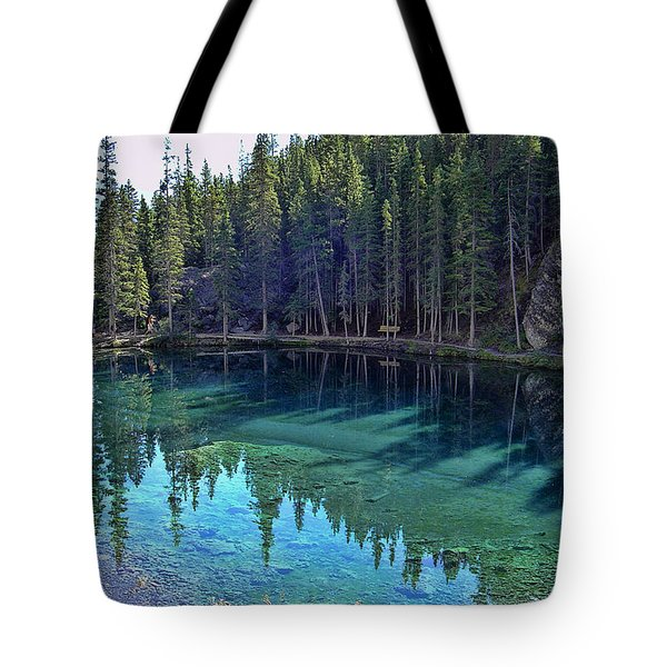 Emerald Mountain Pond Tote Bag by Jo-Anne Gazo-McKim