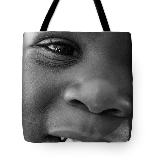 Emery Smile Tote Bag by Sally Bauer
