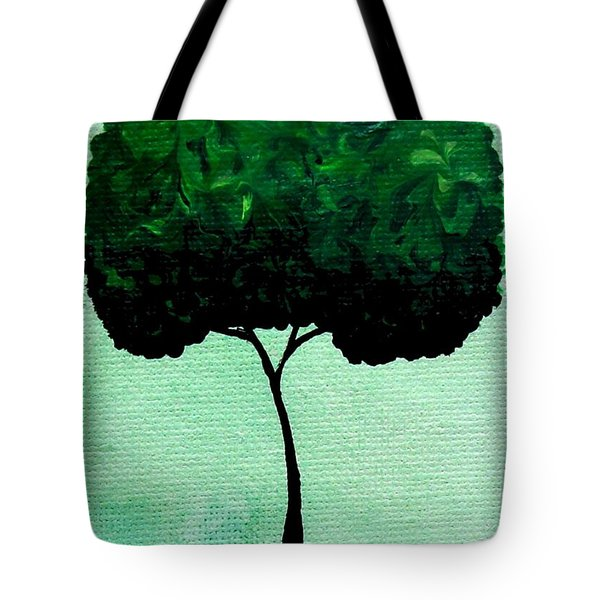 Emily's Trees Green Tote Bag by Oddball Art Co by Lizzy Love