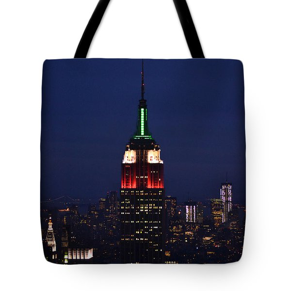 Tote Bag featuring the photograph Empire State Building1 by Zawhaus Photography