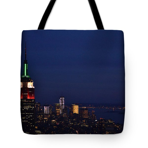 Tote Bag featuring the photograph Empire State Building3 by Zawhaus Photography