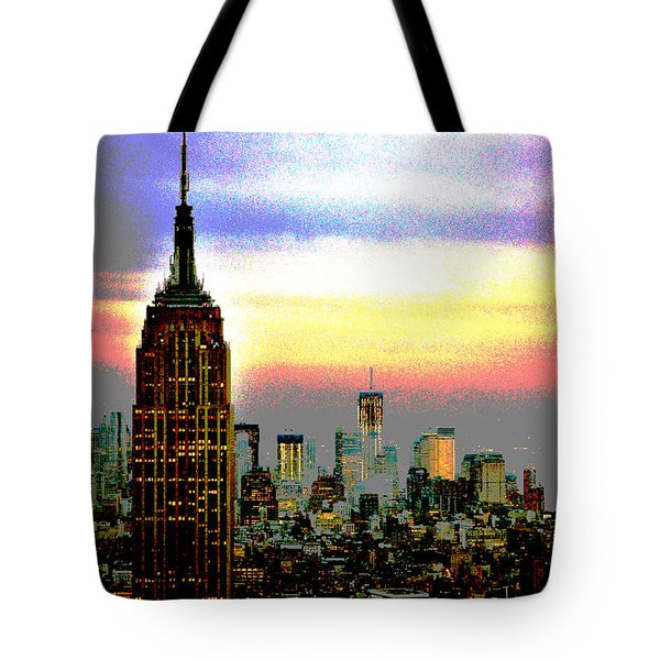Tote Bag featuring the photograph Empire State Building4 by Zawhaus Photography