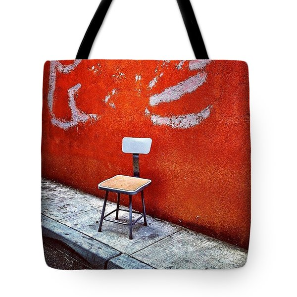 Empty Chair Tote Bag by Julie Gebhardt