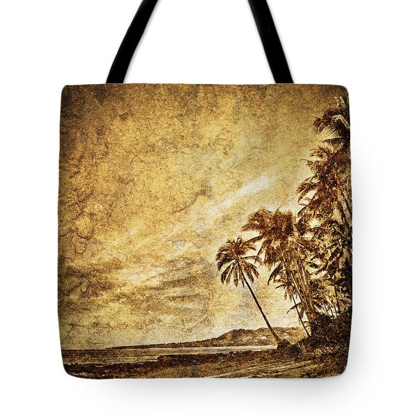 Empty Tropical Beach 3 Tote Bag by Skip Nall