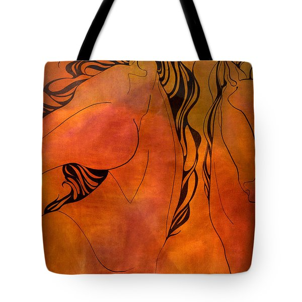 En Gallop Tote Bag by Sheridan Furrer