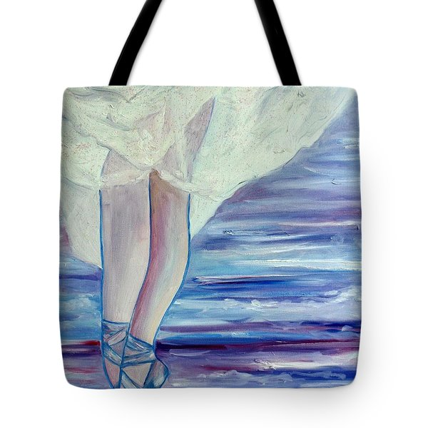 Tote Bag featuring the painting En Pointe by Julie Brugh Riffey