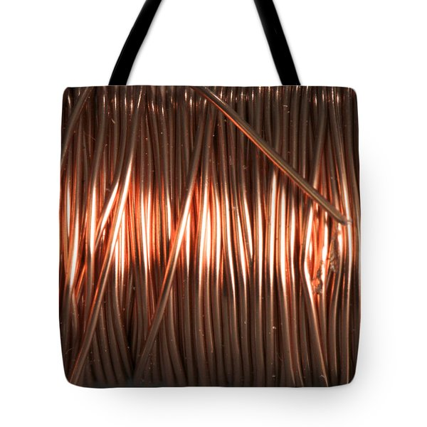 Enamel Coated Copper Wire Tote Bag by Photo Researchers