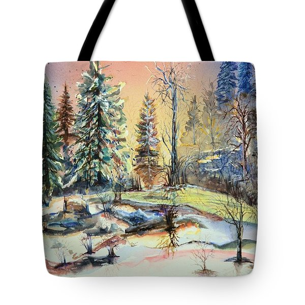 Enchanted Forest At Sunset Tote Bag