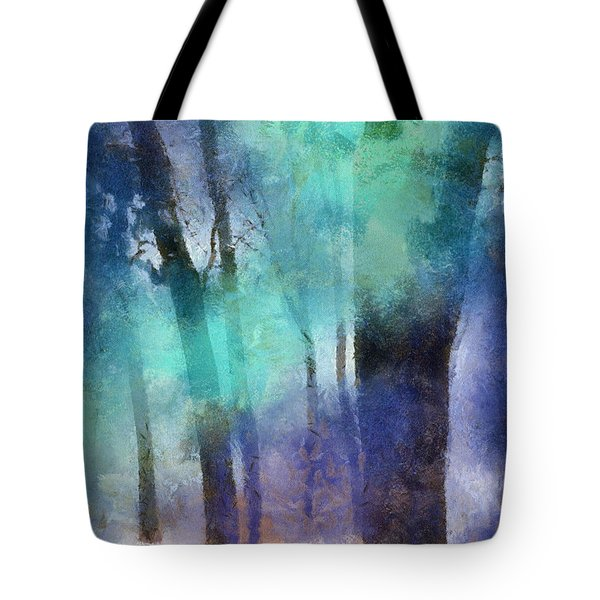 Enchanted Forest. Painting With Light Tote Bag by Jenny Rainbow