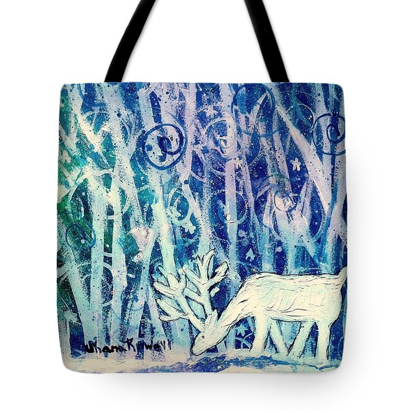 Enchanted Winter Forest Tote Bag