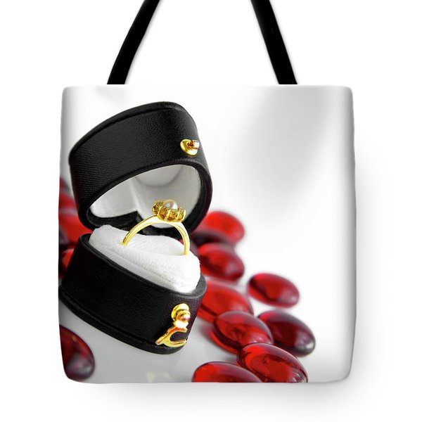 Engagement Ring Tote Bag by Carlos Caetano