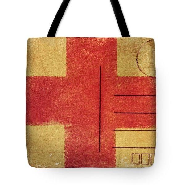 England Flag Postcard Tote Bag by Setsiri Silapasuwanchai
