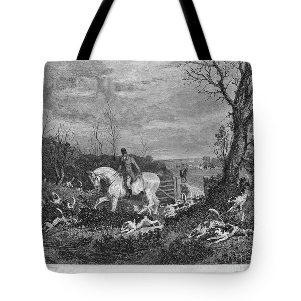 England: Fox Hunt, 1833 Tote Bag by Granger